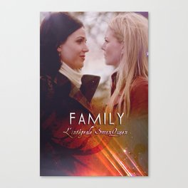 Family - a SwanQueen Fanfiction Canvas Print