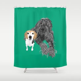 Max and Jimmy Shower Curtain