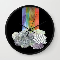 Clouds & Rainbow Wall Clock