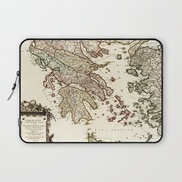 1752 Map of Greece Laptop Sleeve