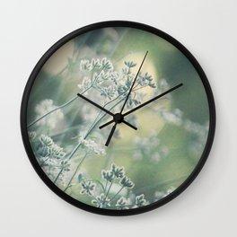 delicate white Wall Clock