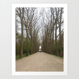 Entrance to Chateau Chenonceau Art Print