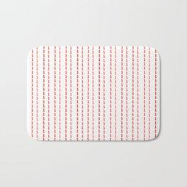 Pink Stitches Bath Mat