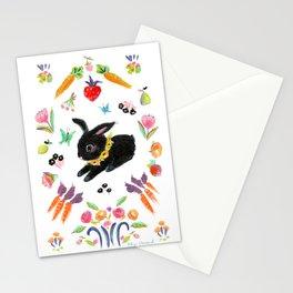 Black bunny Stationery Cards