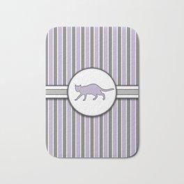 Purple Cat Stripes Pattern Design Bath Mat