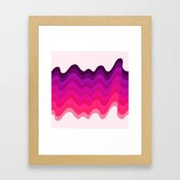 Retro Ripple in Pinks Framed Art Print