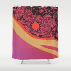 Rose gold square ornament Shower Curtain