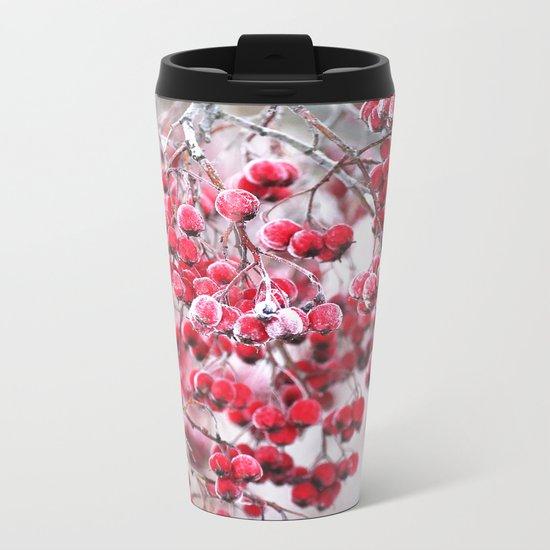 Icy Berries  Metal Travel Mug