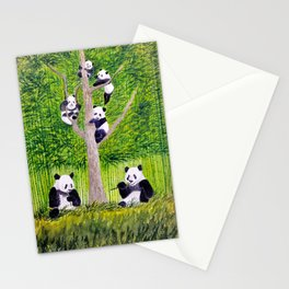 Giant Panda Bears - Hey It's Time To Eat Stationery Cards