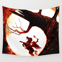 horse man Wall Tapestry