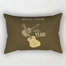 Yeah or Meh: The Acoustic Guitar — Music Snob Tip #102 Rectangular Pillow
