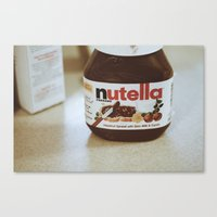 nutella Canvas Prints featuring Nutella by Danielle Clark
