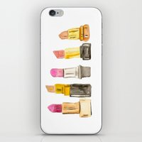 lipstick iPhone & iPod Skins featuring Lipstick by Sweet Colors Gallery