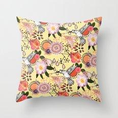 Feeling Fluttery Throw Pillow