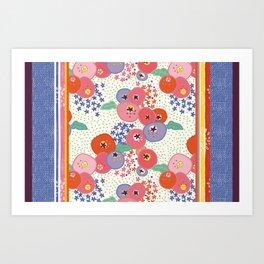 Floral rug Art Print