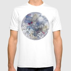 Water Bubble Mens Fitted Tee MEDIUM White