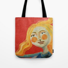 Yellow hair Tote Bag