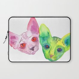 Colored Cats Laptop Sleeve