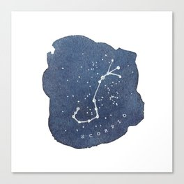 scorpio constellation zodiac Canvas Print