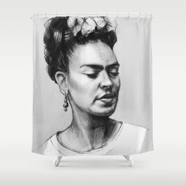 Portrait of Frida Kahlo Shower Curtain