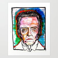 christopher walken Art Prints featuring Christopher Walken by Eric Sokoloff