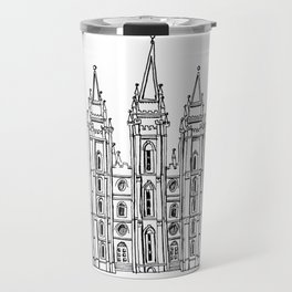 Salt Lake City Temple Sketch Travel Mug