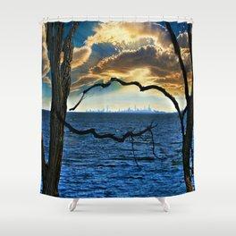 Nature's Framework - Magical New York Shower Curtain