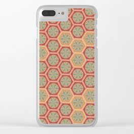 Hexagonal Dreams - Tangerine and Orange Clear iPhone Case