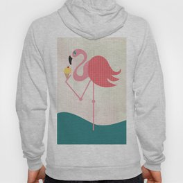 Flamingo has an ice cream Hoody
