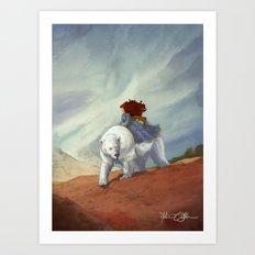 The White-Bear Art Print