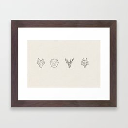 Animals of the Realm Framed Art Print