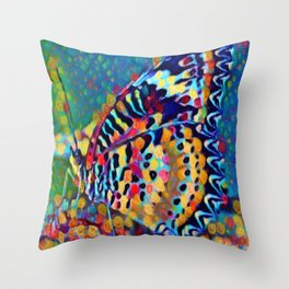 Butterfly Pizazz | Oil Painting Throw Pillow