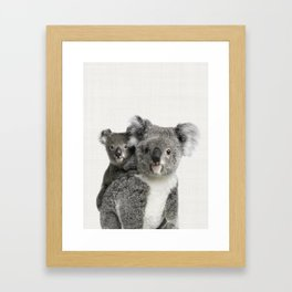 Koala Print, Australian Animal, Nursery Wall Art Decor, Koala Bear Framed Art Print