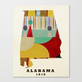 Alabama state map modern Canvas Print