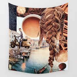 An American in Venice Wall Tapestry