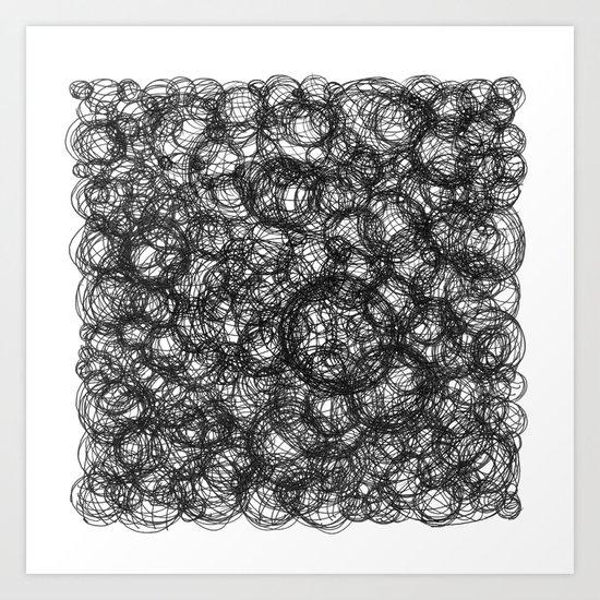 Black Ink on White Art Print