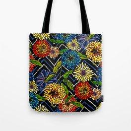 Chrissy Flowers Bohemian Tote Bag