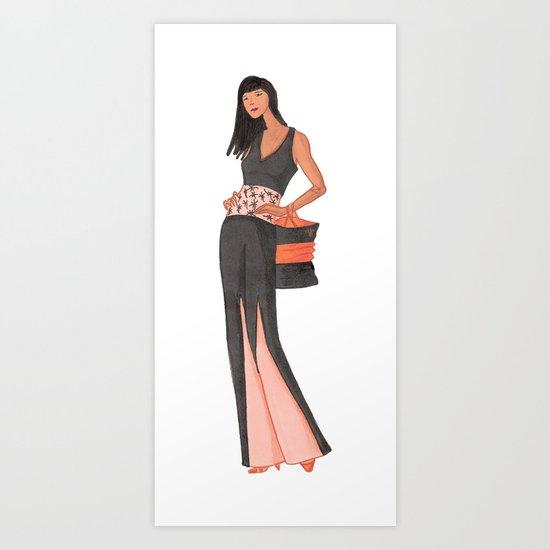 Glamour Girl Art Print