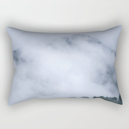 """Mistery mountains"". Retro. Foggy. Rectangular Pillow"