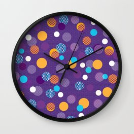 Japanese Patterns 07v Wall Clock