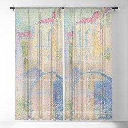 "Henri-Edmond Cross ""Ponte Moro, Rio Grimani (Venise)"" Sheer Curtain"