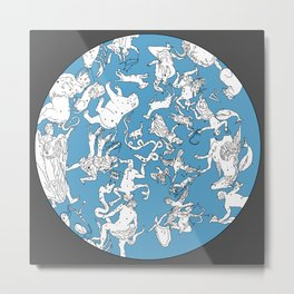 Star Constellation Map Metal Print