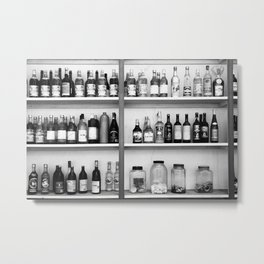 Liquor bottles Metal Print