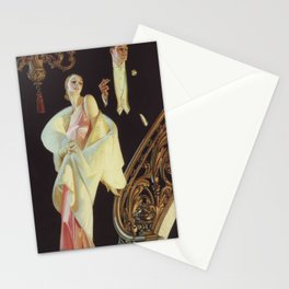Couple Descending Staircase by J.C. Leyendecker Stationery Cards