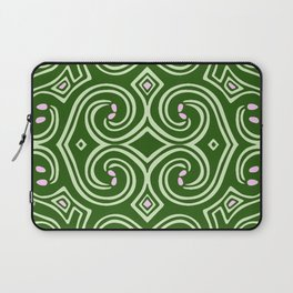 Svortices (Green) Laptop Sleeve