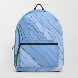 Currents of Blue Marble Pattern Backpack