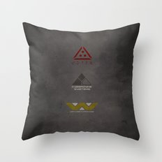 Aliens, Predator, & Terminator Throw Pillow