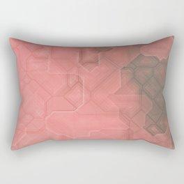 future fantasy terracotta Rectangular Pillow
