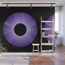Purple Iris Abstract Universe Art Wall Mural