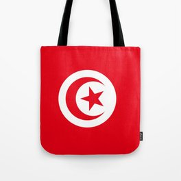 flag of tunisia -tunisie, tunisian,tunis,Maghreb. Tote Bag